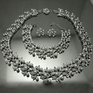 Набор с жемчугом и кристаллами арт.NA0028A