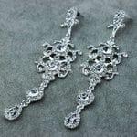 Серьги-люстры с кристаллами Swarovski