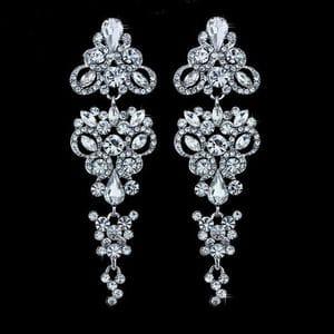 Серьги-люстры с кристаллами Swarovski арт.SR0027