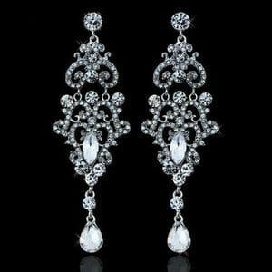 Серьги-люстры с кристаллами Swarovski арт.SR0029