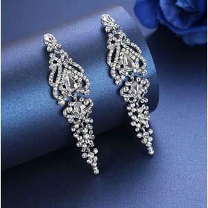 Серьги-люстры с кристаллами Swarovski арт.SR0042