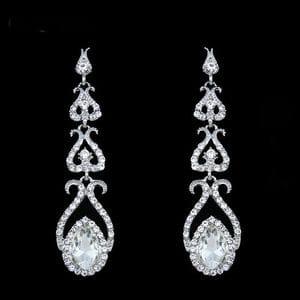 Серьги-люстры с кристаллами Swarovski арт.SR0580