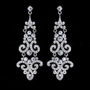Серьги-люстры с кристаллами Swarovski арт.SR0065