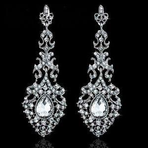 Серьги-люстры с кристаллами Swarovski арт.SR0064