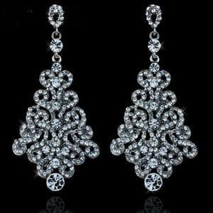 Серьги-люстры с кристаллами Swarovski арт.SR00107