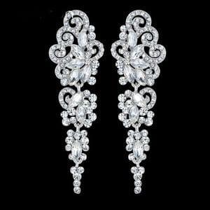 Серьги-люстры с кристаллами Swarovski арт.SR0820