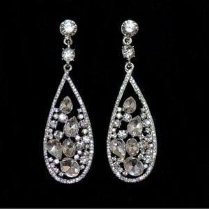 Серьги-люстры с кристаллами Swarovski арт.SR0483