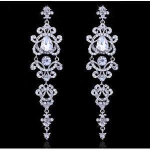 Серьги-люстры с кристаллами Swarovski арт.SR0068