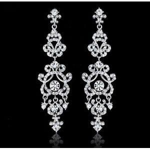 Серьги-люстры с кристаллами Swarovski арт.SR007