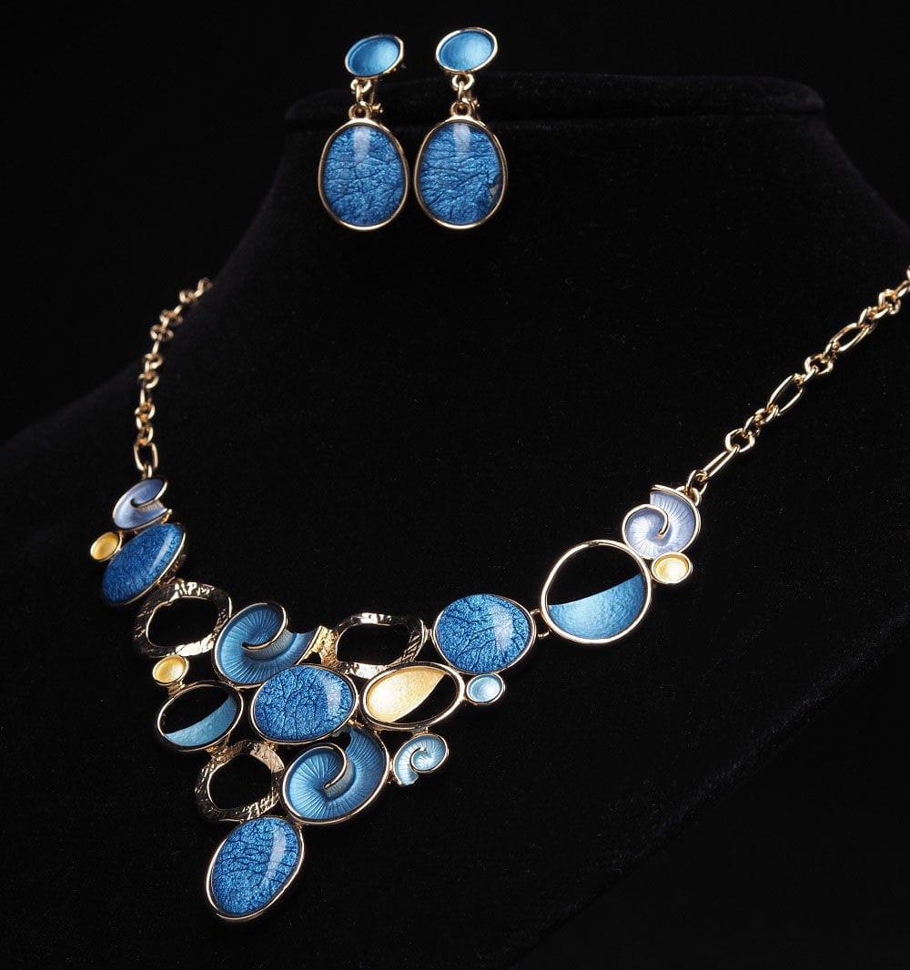Набор с голубой эмалью арт.NA003
